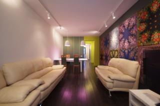 светлая стильная 3-комнатная квартира в аренду в современном доме Санкт-Петербург